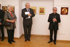 Odprtje razstave - nuncij msgr. Santos Abril y Castelló